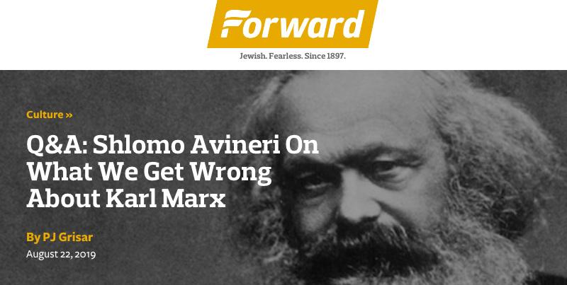 Forward header - Q&A: Shlomo Avineri On What We Get Wrong About Karl Marx