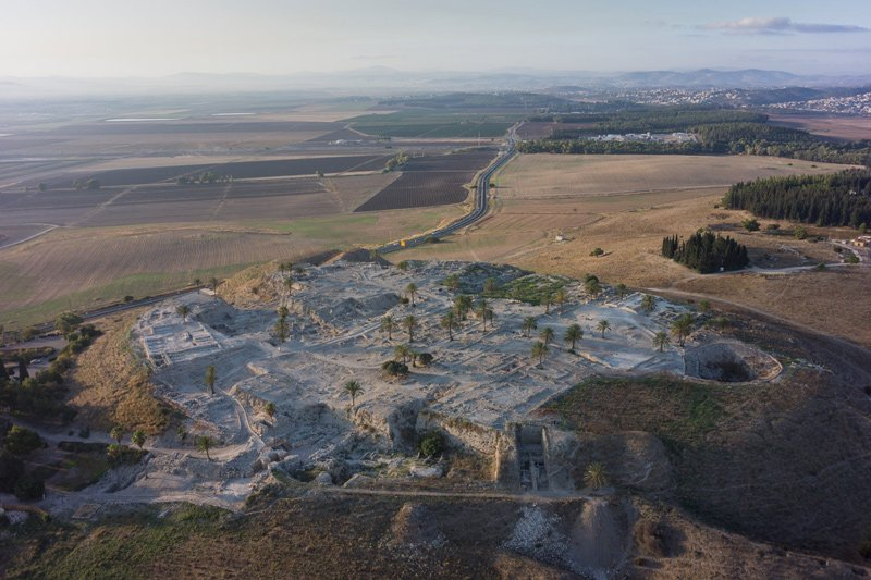A general view of the Tel Megiddo site.
