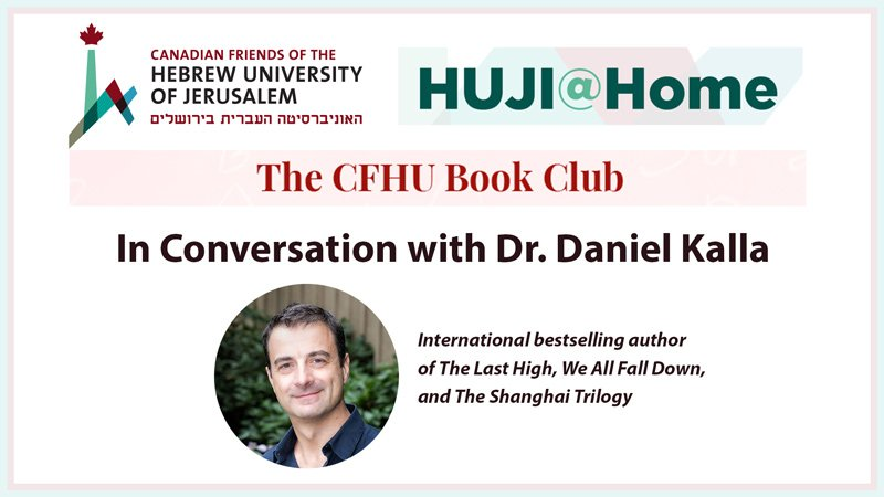 A conversation with author Dr. Daniel Kalla